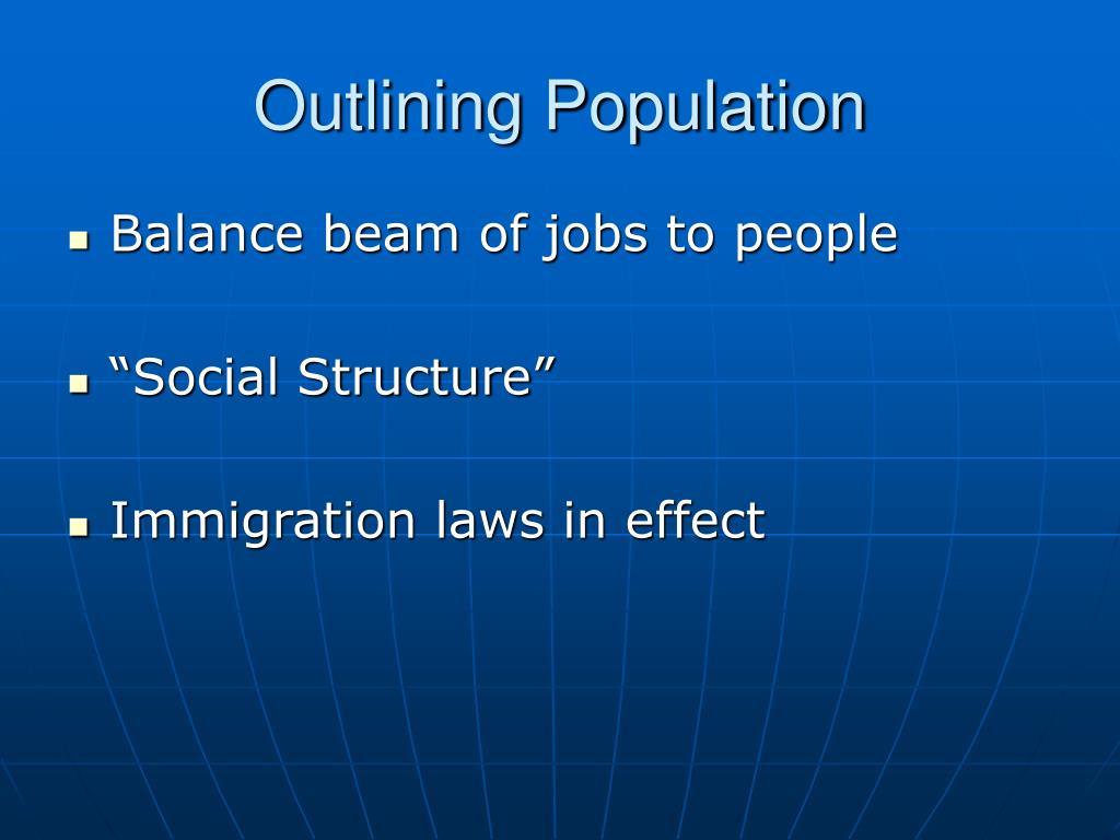 Outlining Population