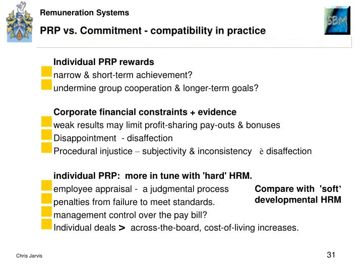 PRP vs. Commitment - compatibility in practice