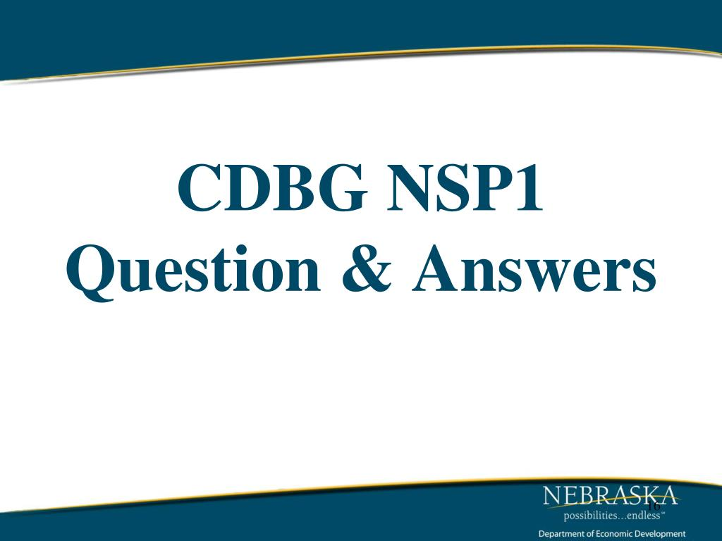 CDBG NSP1