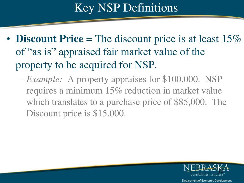 Key NSP Definitions