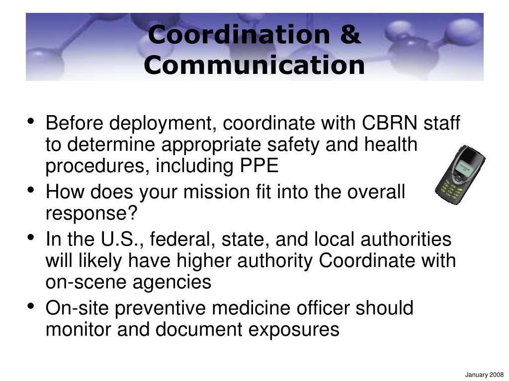 Coordination & Communication