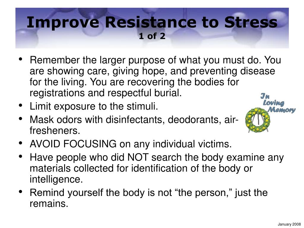 Improve Resistance to Stress