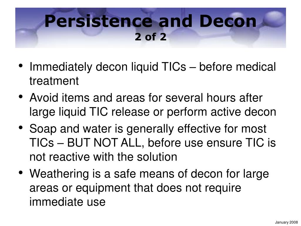 Persistence and Decon