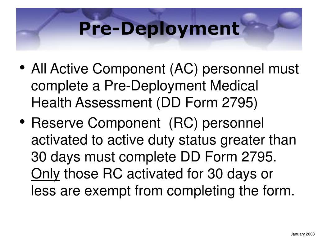 Pre-Deployment