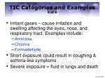 tic categories and examples 2 of 6
