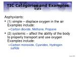 tic categories and examples 4 of 6
