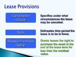 lease provisions65