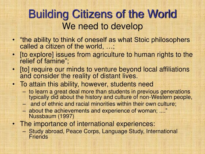 Building Citizens of the World