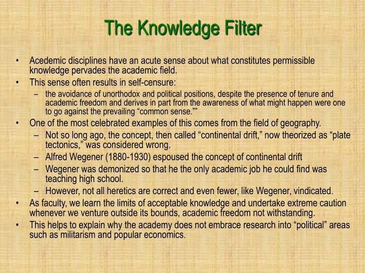 The Knowledge Filter