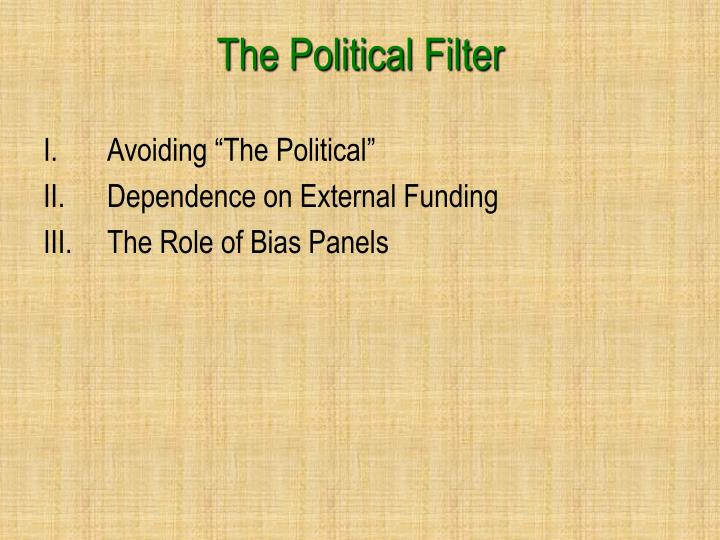 The Political Filter