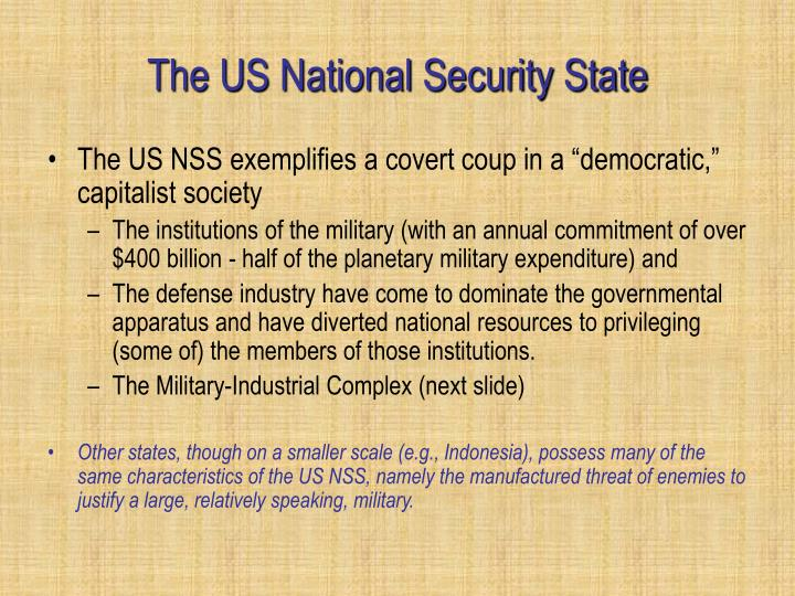 The US National Security State