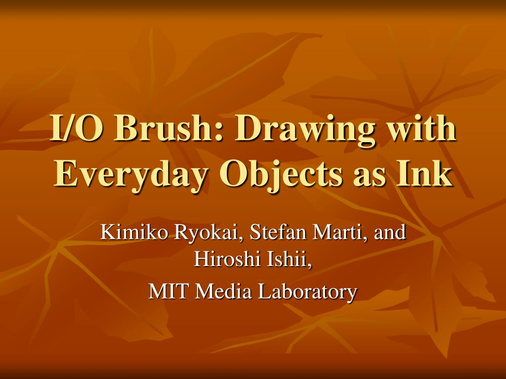 i o brush drawing with everyday objects as ink l.