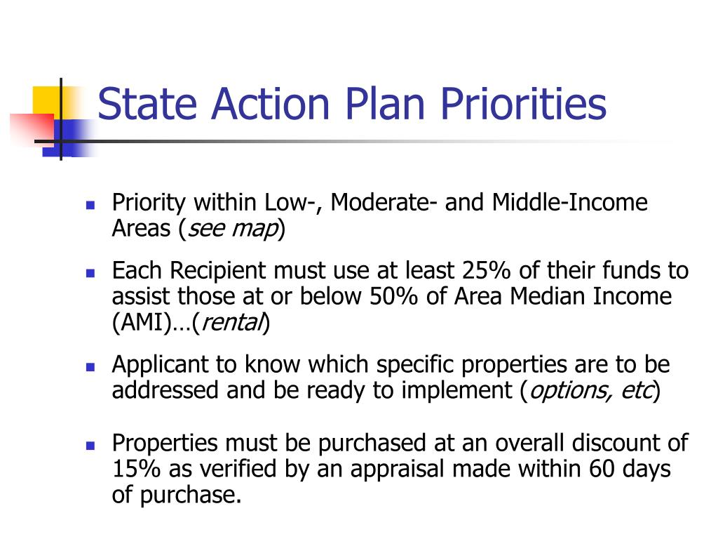 State Action Plan Priorities