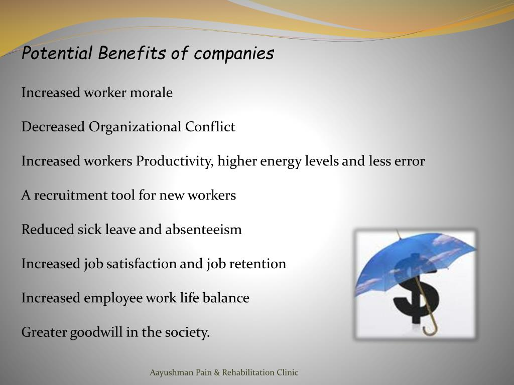 Potential Benefits of companies