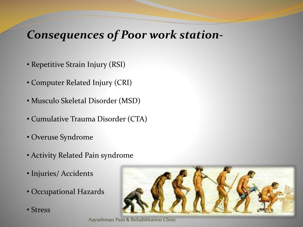 Consequences of Poor work station-