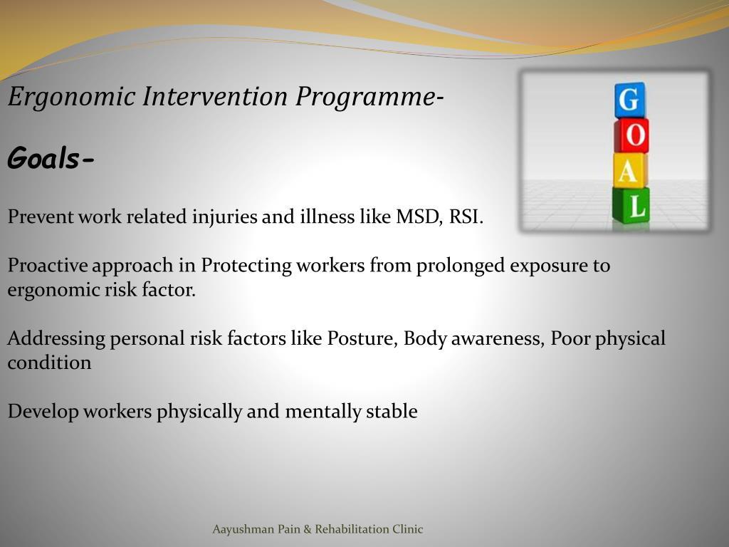 Ergonomic Intervention Programme-