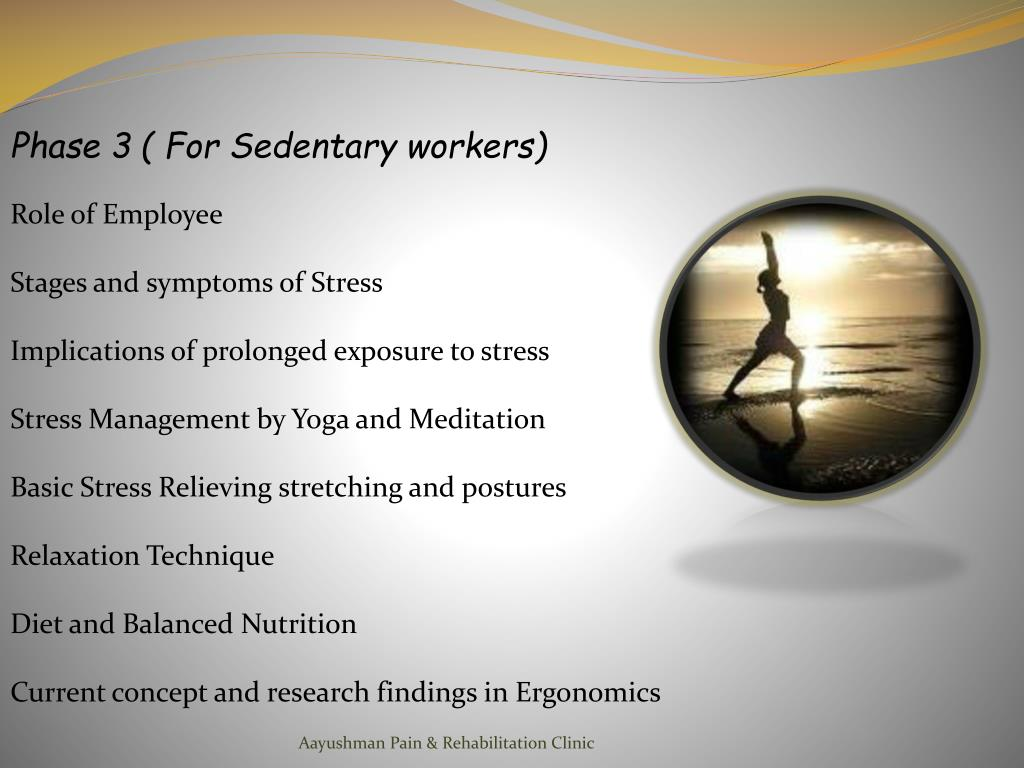 Phase 3 ( For Sedentary workers)