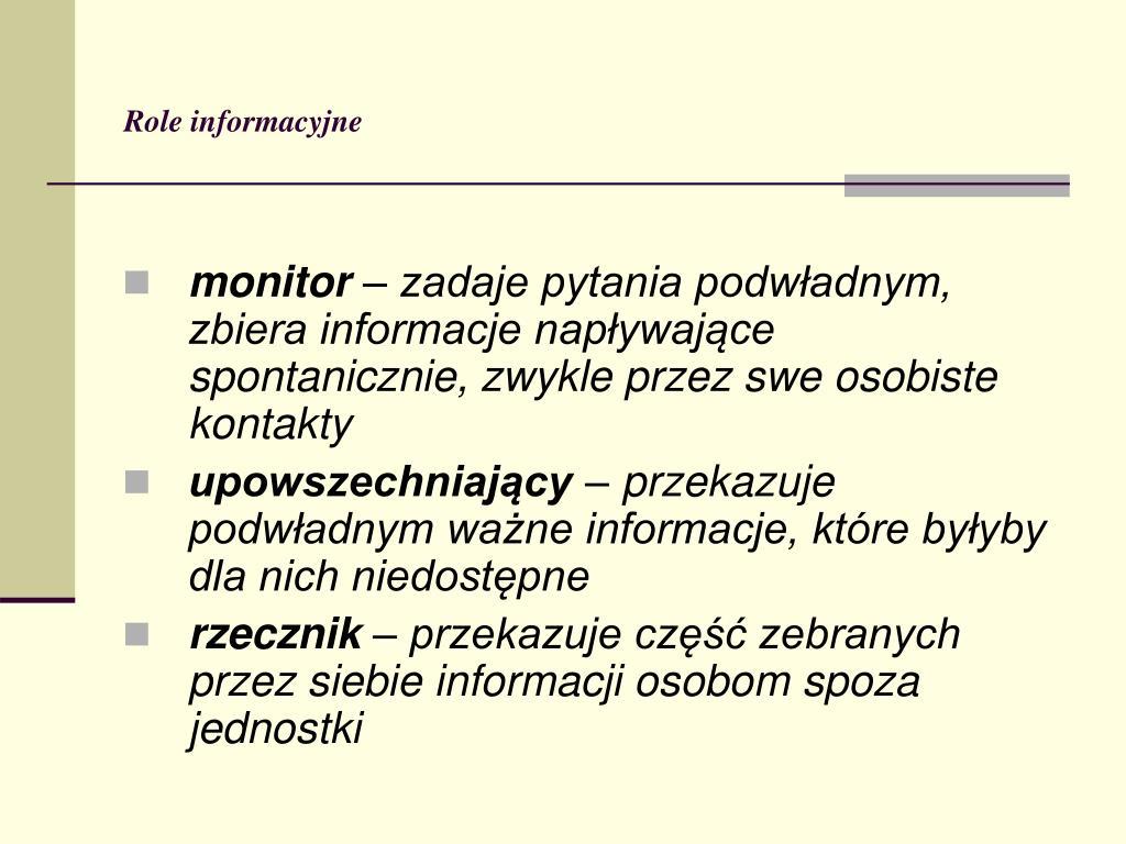 Role informacyjne