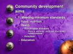 community development aims