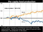 per capita food production