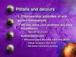 pitfalls and detours