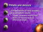 pitfalls and detours28