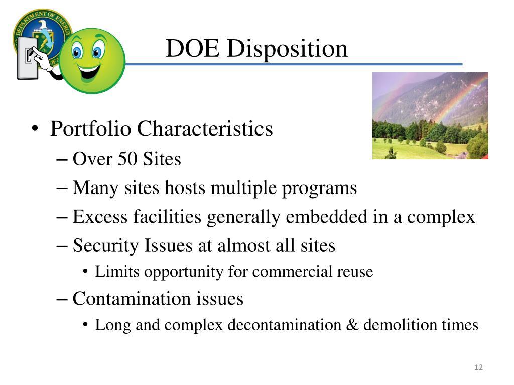 DOE Disposition