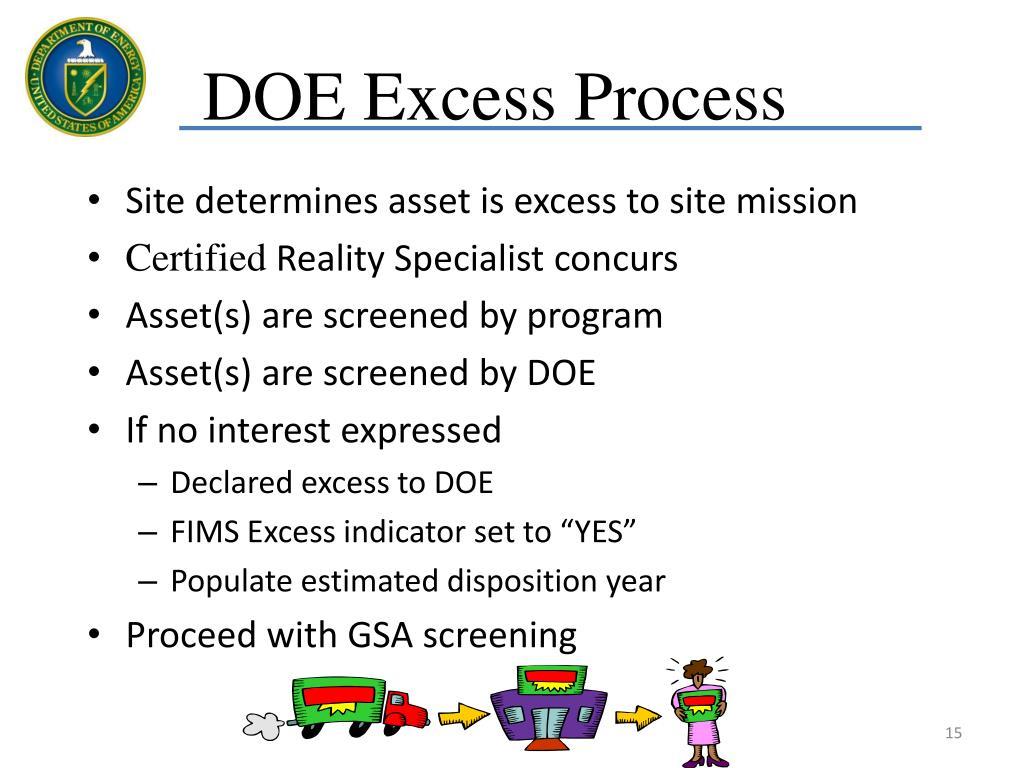 DOE Excess Process