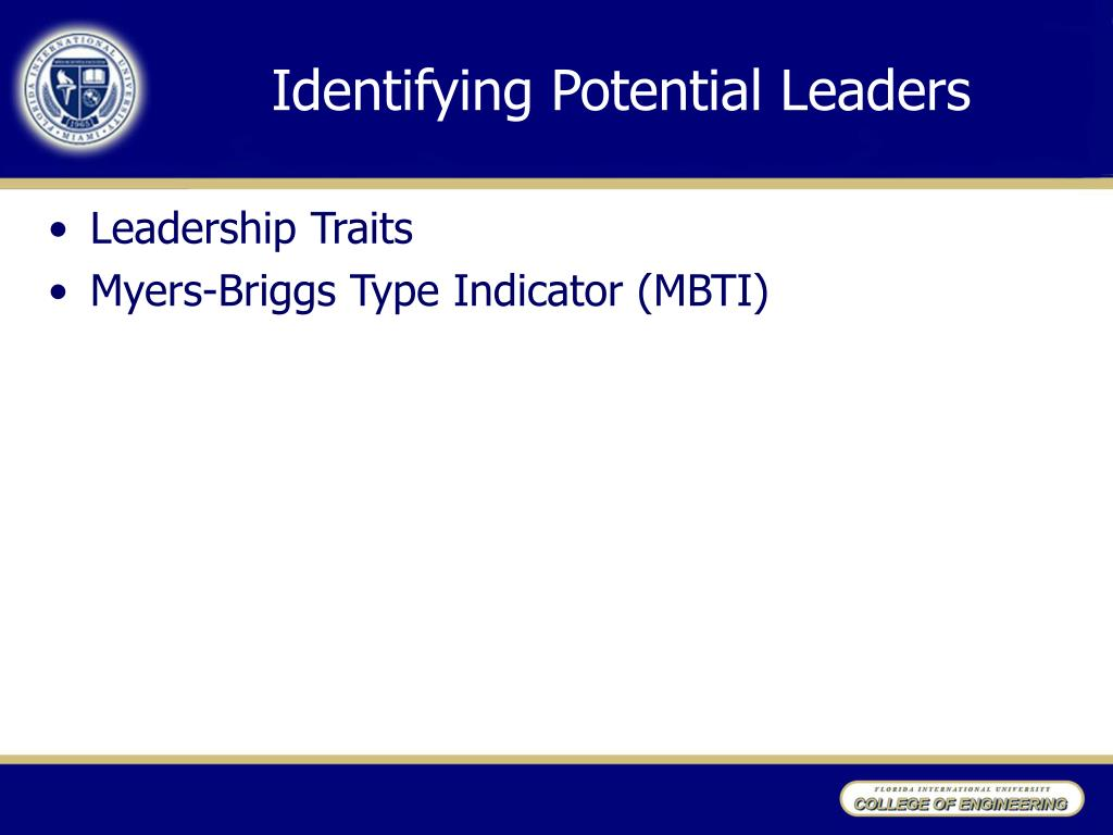Identifying Potential Leaders