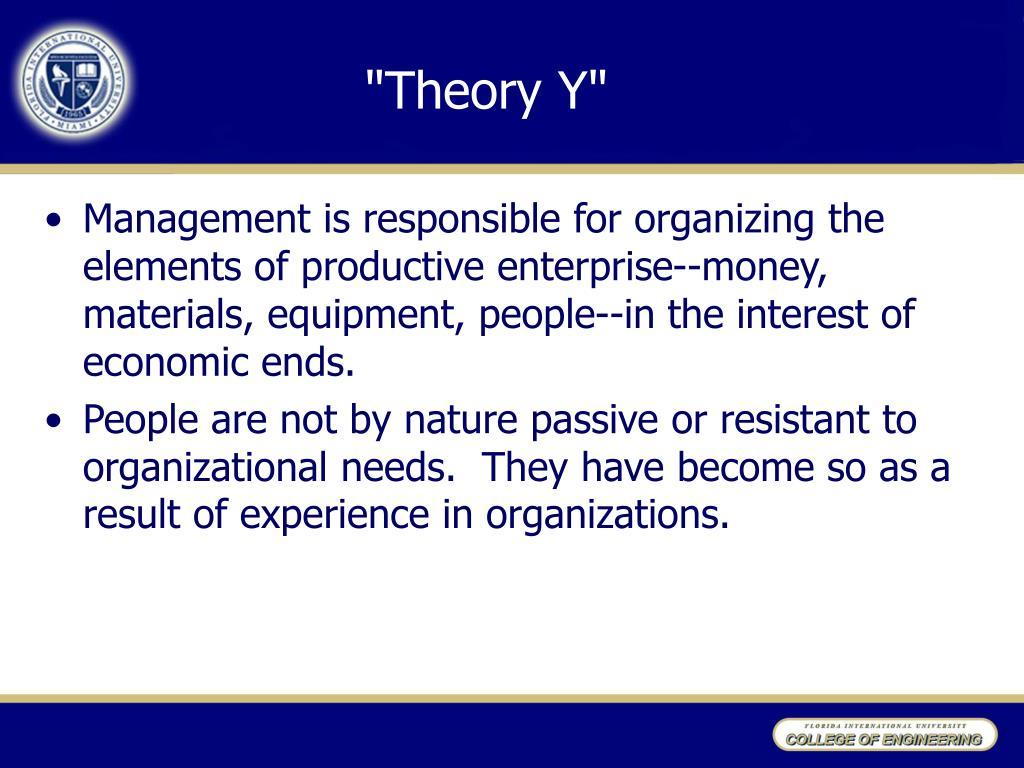 """""""Theory Y"""""""