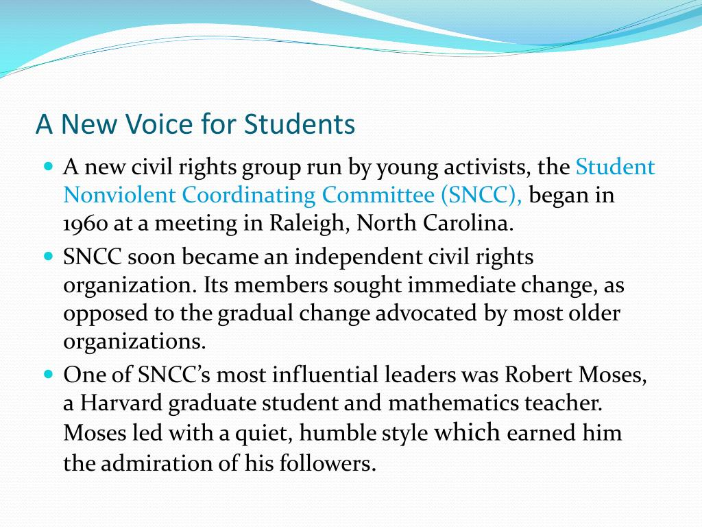 A New Voice for Students
