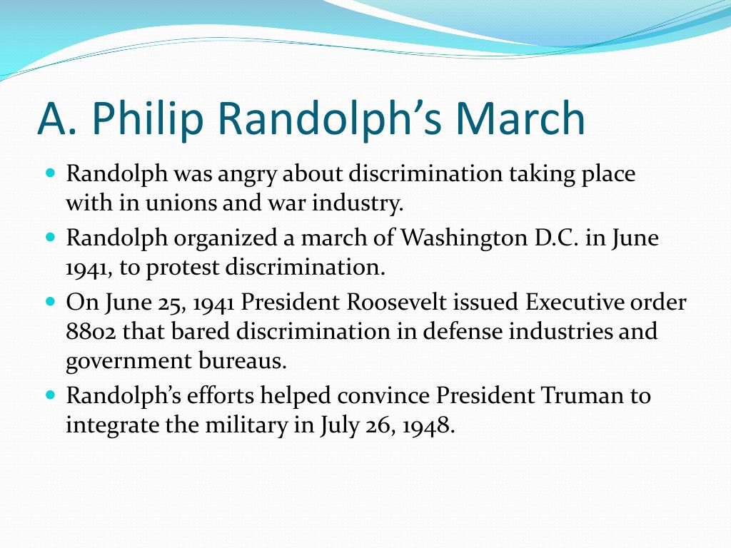 A. Philip Randolph's March