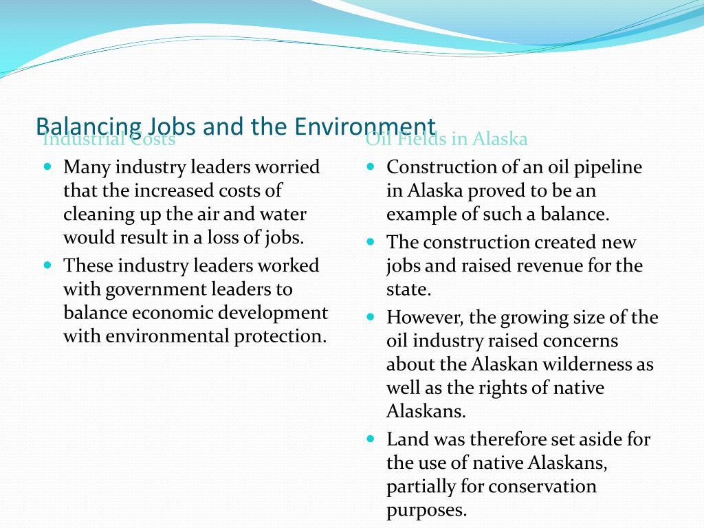 Balancing Jobs and the Environment