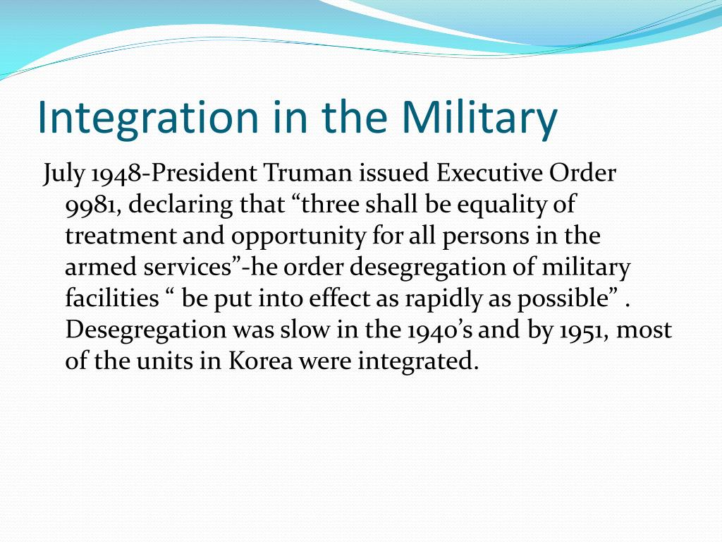 Integration in the Military