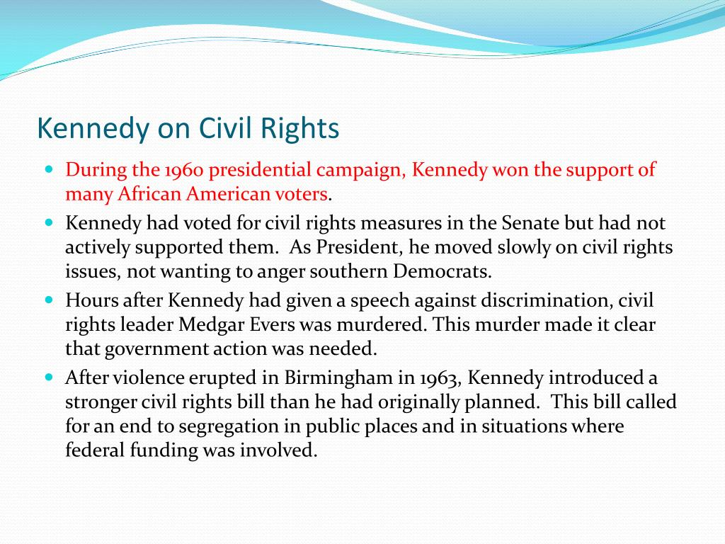 Kennedy on Civil Rights