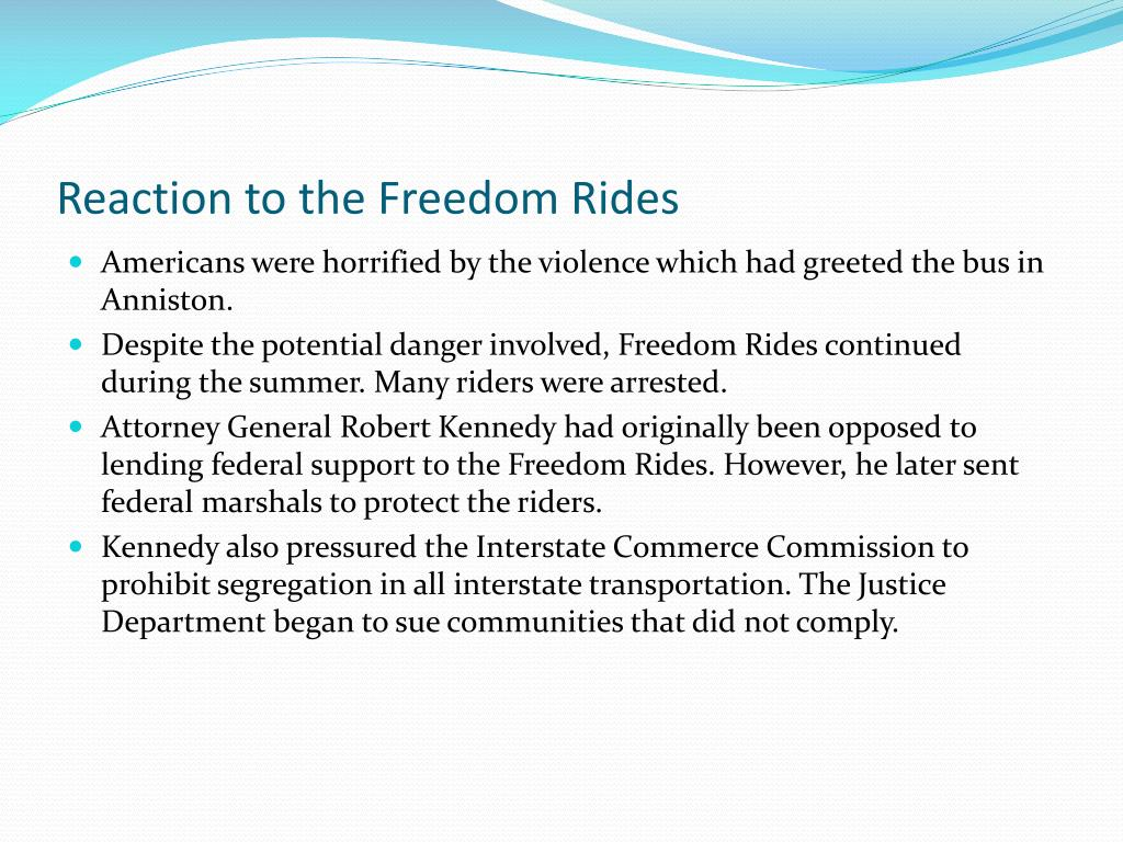 Reaction to the Freedom Rides