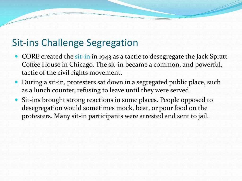 Sit-ins Challenge Segregation