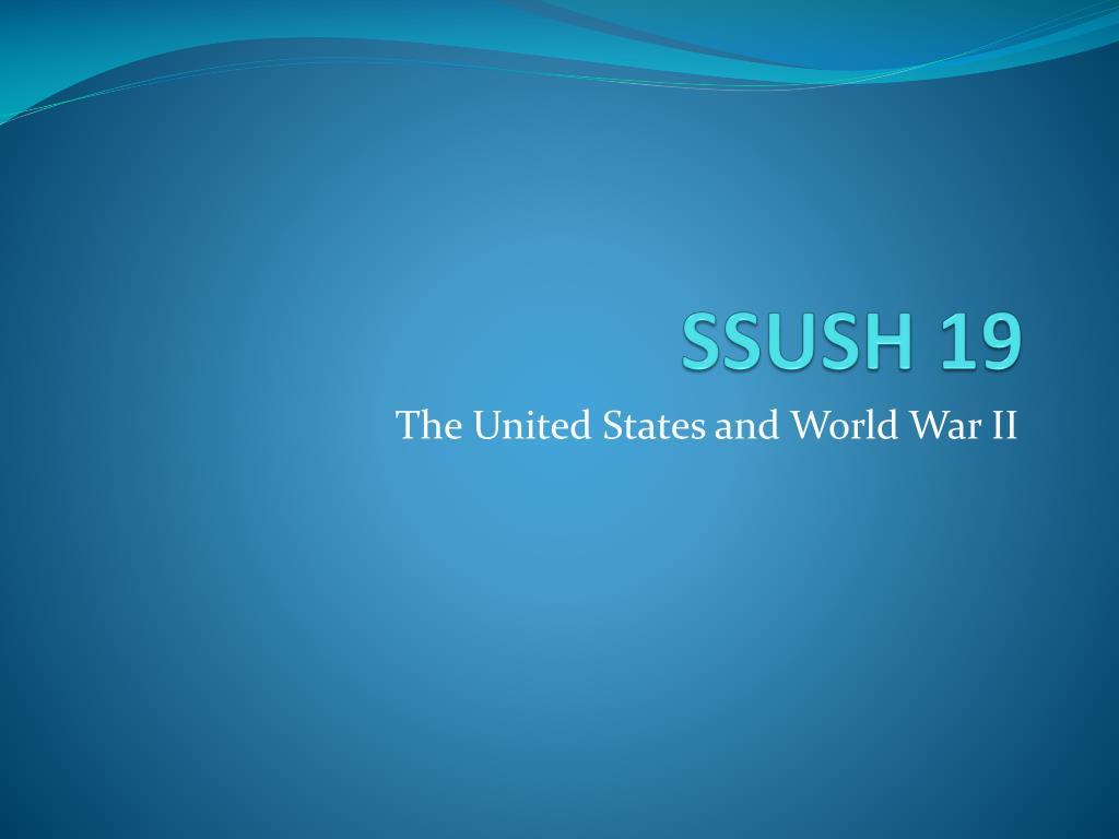 SSUSH 19
