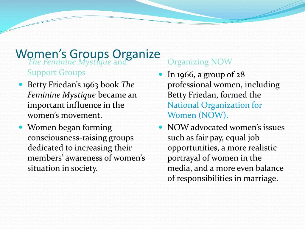 Women's Groups Organize
