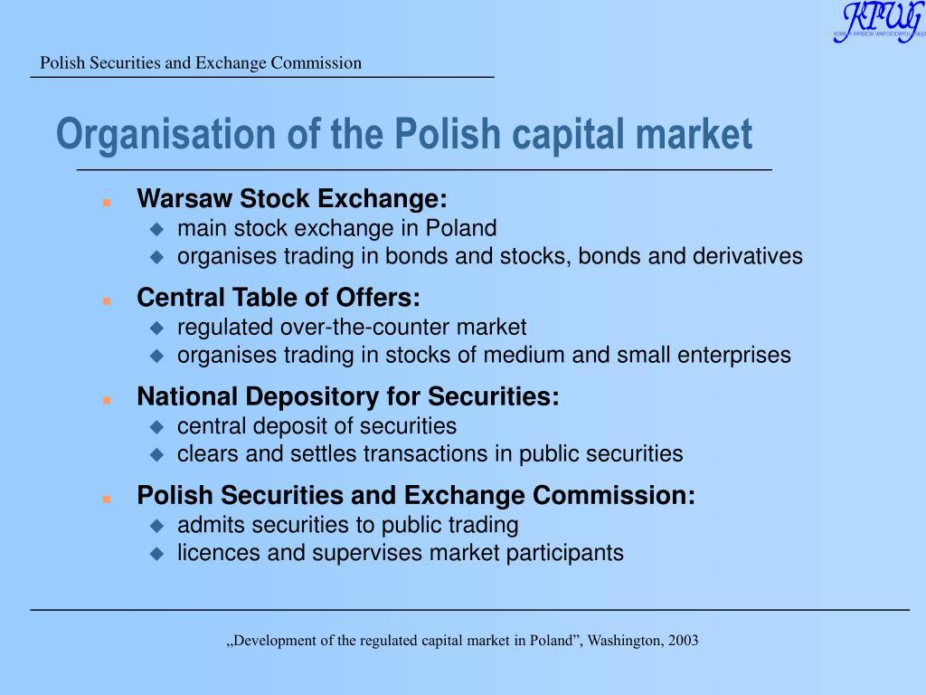 Organisation of the Polish capital market