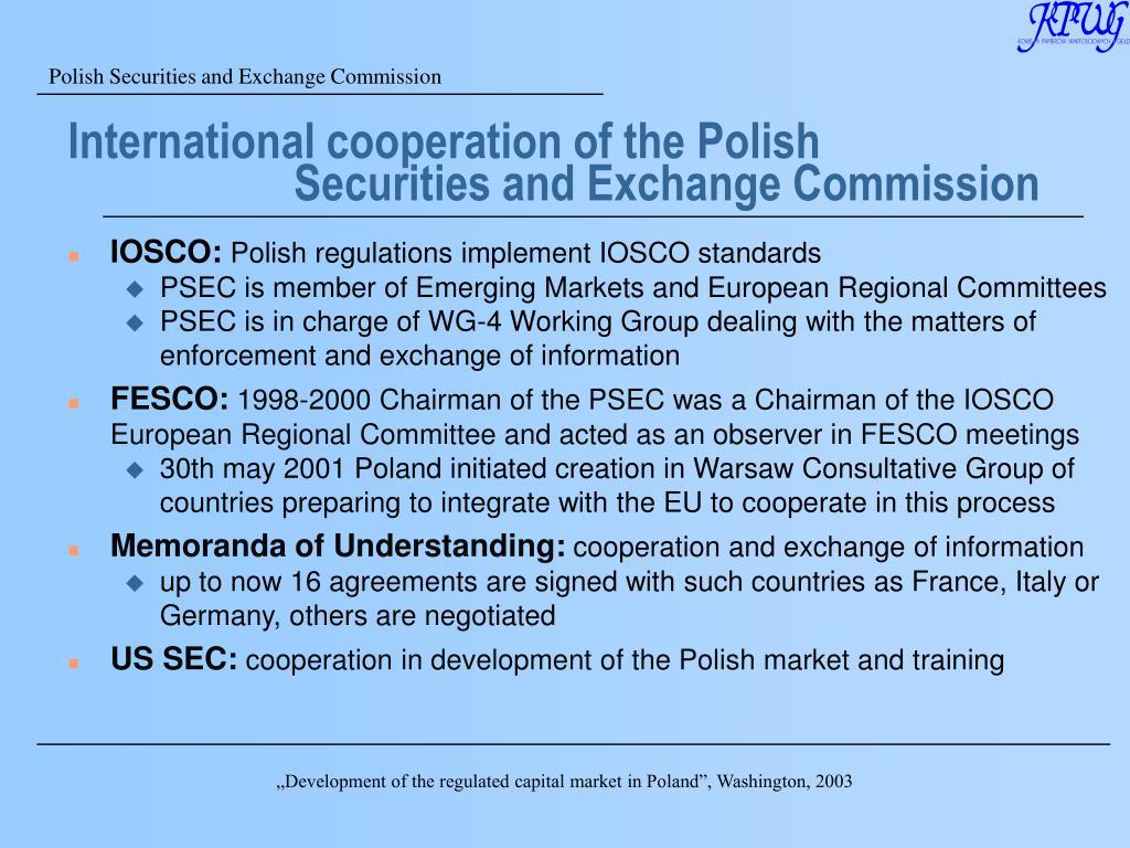 International cooperation of the Polish