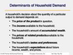 determinants of household demand
