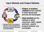 input markets and output markets