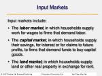 input markets