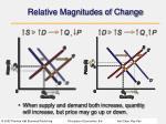 relative magnitudes of change38