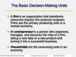 the basic decision making units