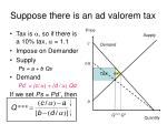 suppose there is an ad valorem tax4