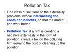 pollution tax