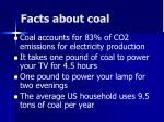 facts about coal