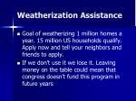 weatherization assistance
